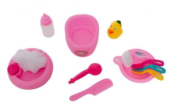 Mesinha Infantil Hora do Banho e Papinha   Boneca   Acessórios